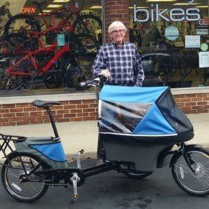 Wike Salamander Cykelklapvogn – Med hjælpemotor, Blå/grå