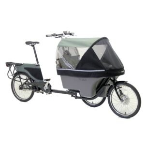 Wike Salamander Cykelklapvogn – Med hjælpemotor, Grå/grå