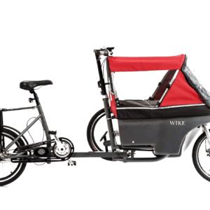 Wike Salamander Cykelklapvogn – Med hjælpemotor, Rød/grå