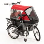 Wike Salamander Cykelklapvogn – Standard (uden el), Rød/grå