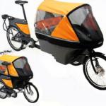 Wike Salamander Cykelklapvogn – Med hjælpemotor, Orange/grå